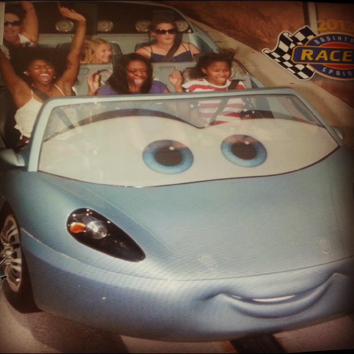 Disneyland vs California Adventure - carsland ride